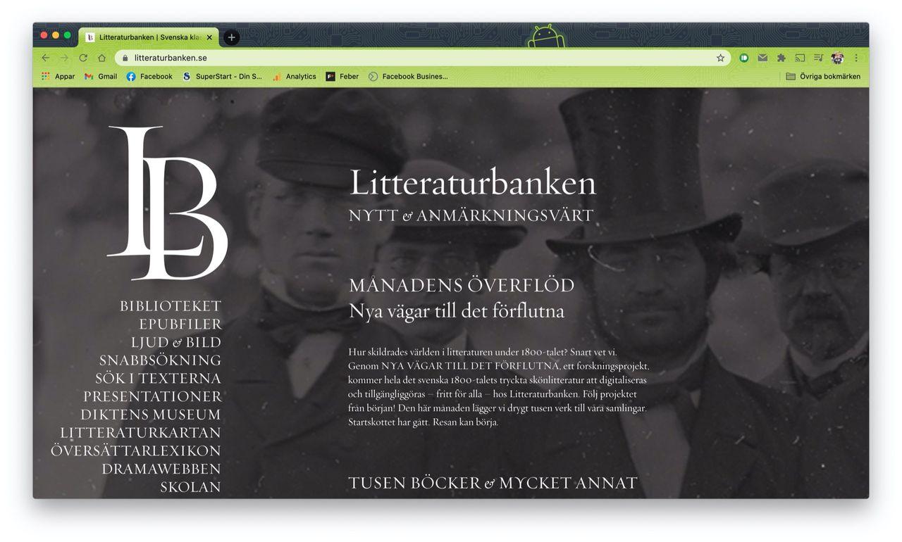 Litteraturbanken ska digitalisera all svensk 1800-talslitteratur