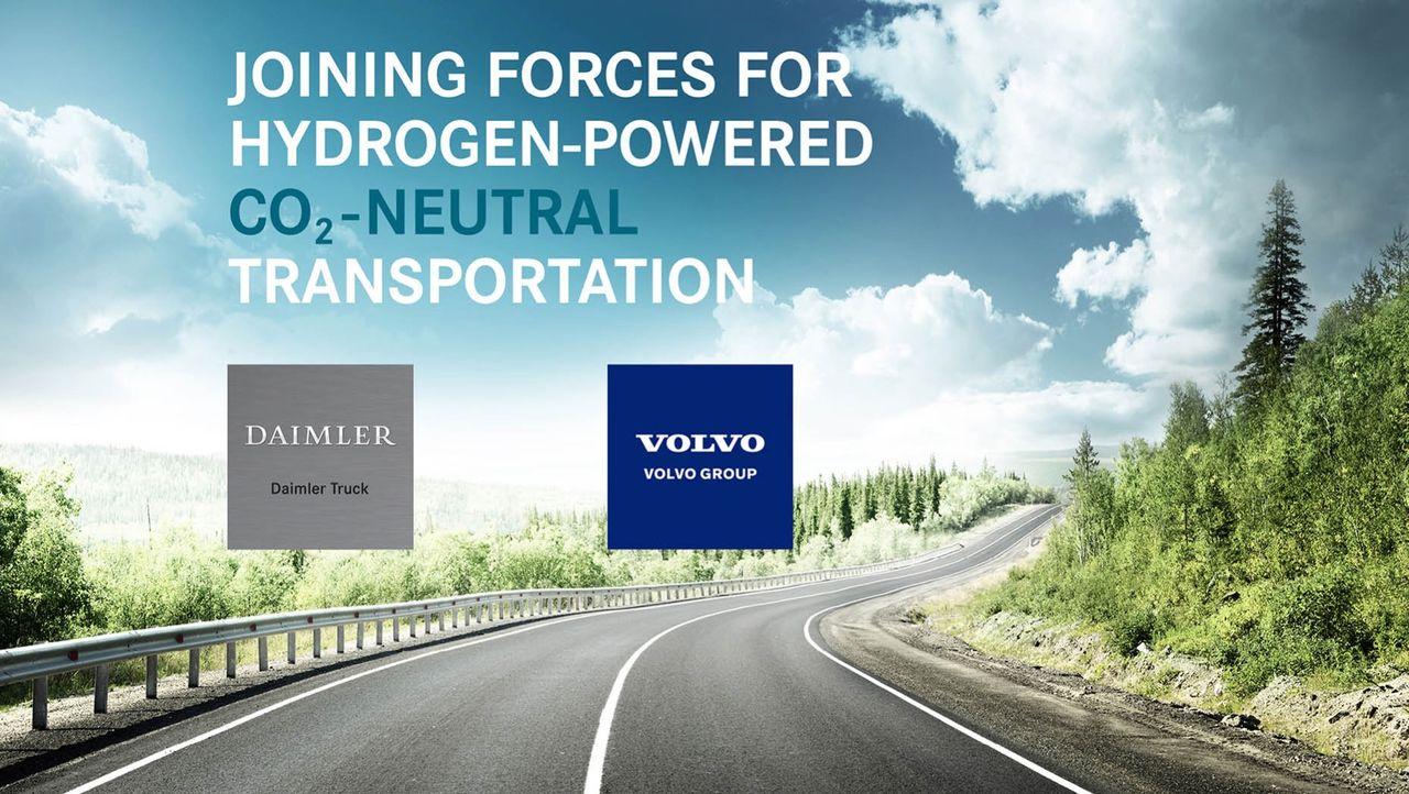 Daimler Truck AG och Volvokoncernen bildar bränslecellsbolag
