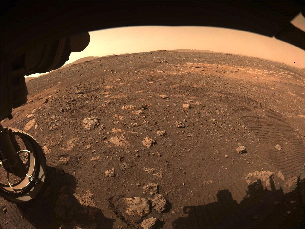 Perseverance har tagit en första repa på Mars