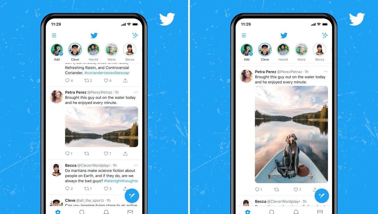 Twitter testar att sluta beskära bilder i sitt flöde