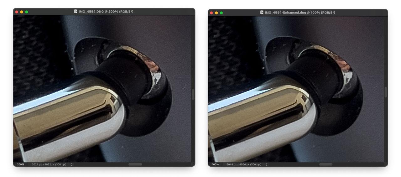 Dubbla upplösningen i Adobe Camera Raw
