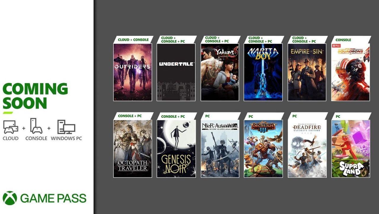Microsoft fyller på Game Pass med fler titlar