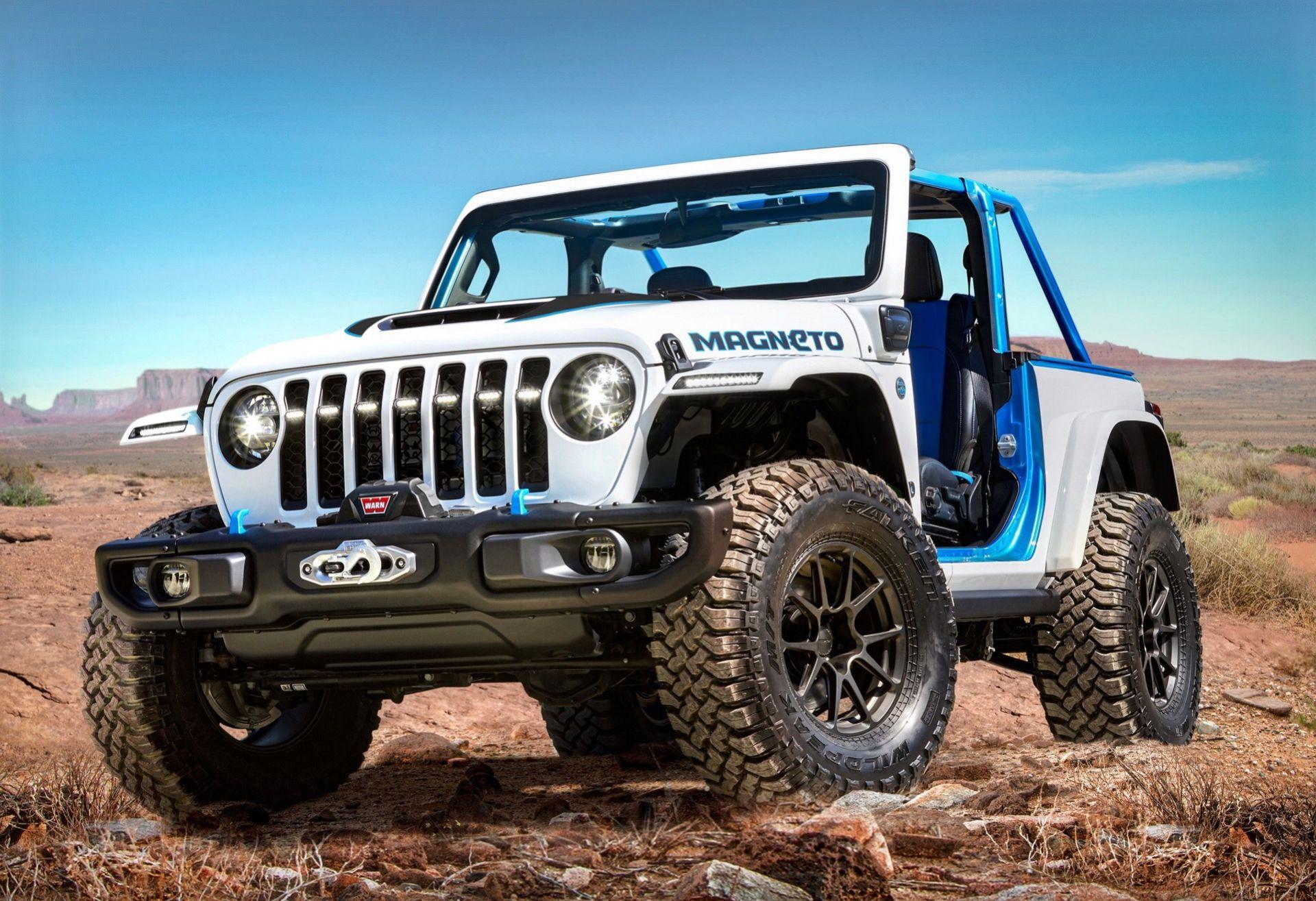 Jeep visar helt eldriven Wrangler