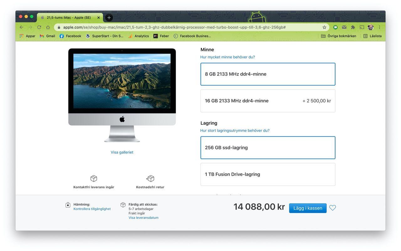 Två iMac-konfigurationer försvinner