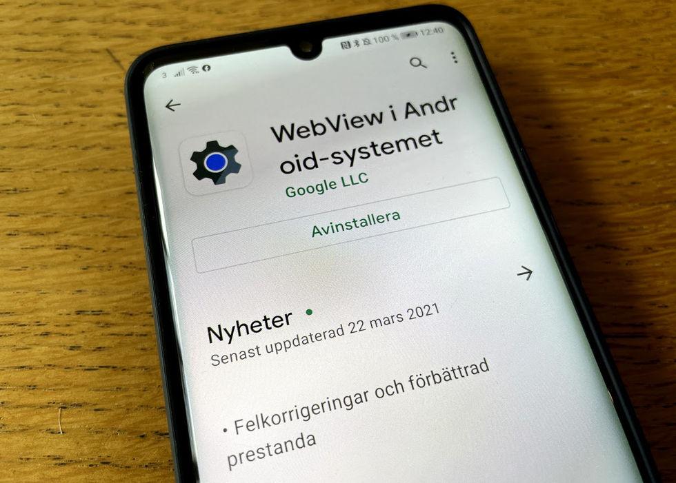 Bugg i WebView fick många androidappar att krascha