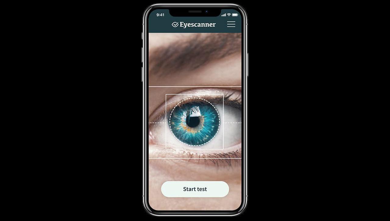 Appen Eyescanner ska kunna se om någon är drogpåverkad