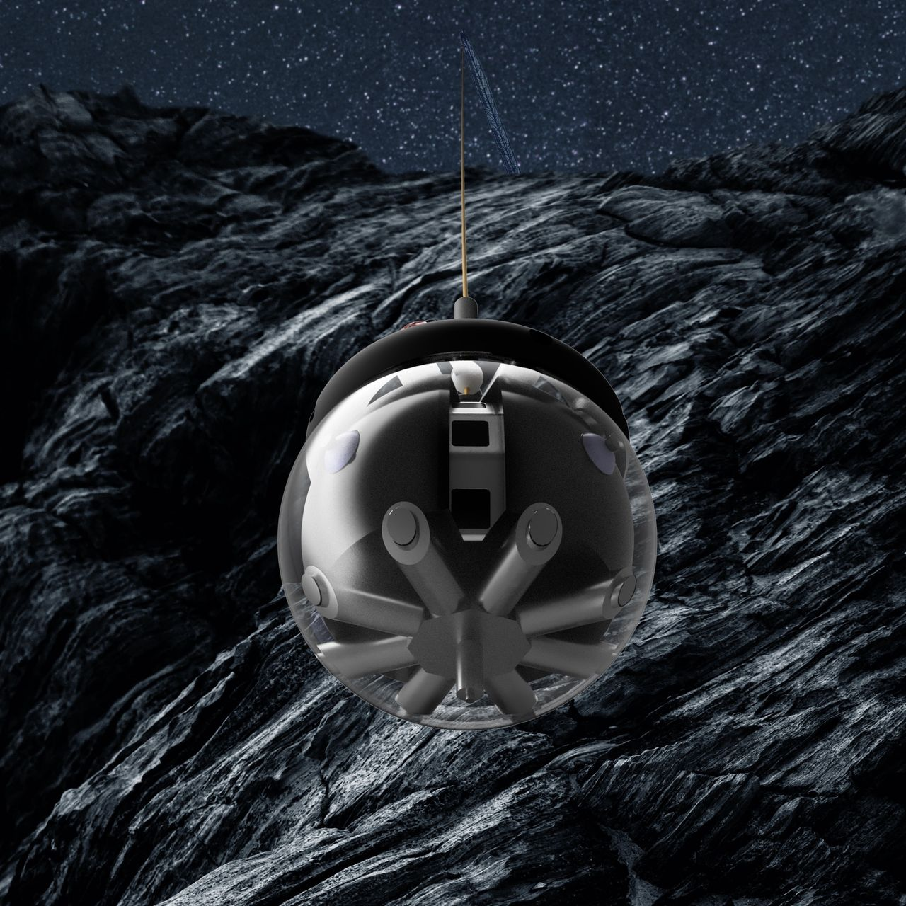 Roboten Daedalus kan utforska grottor på månen