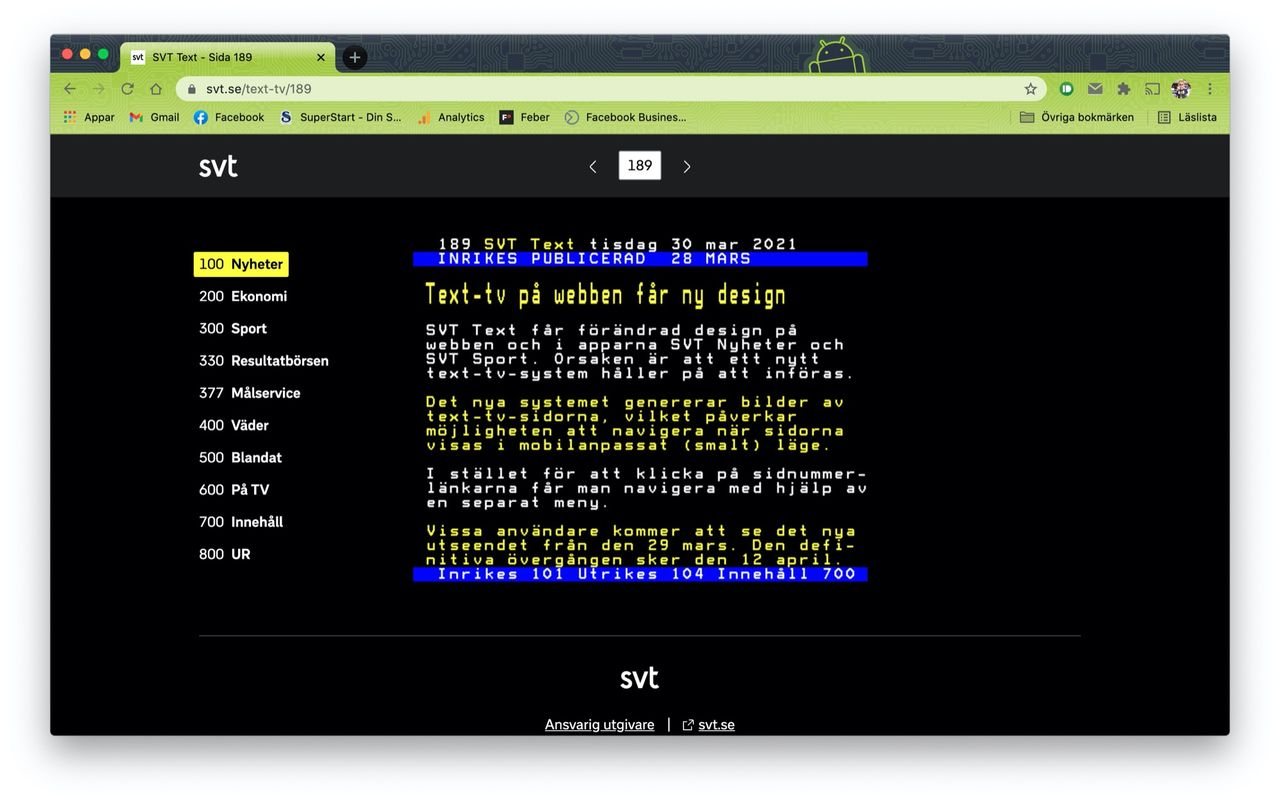 SVT Text får ny design på webben och i appar