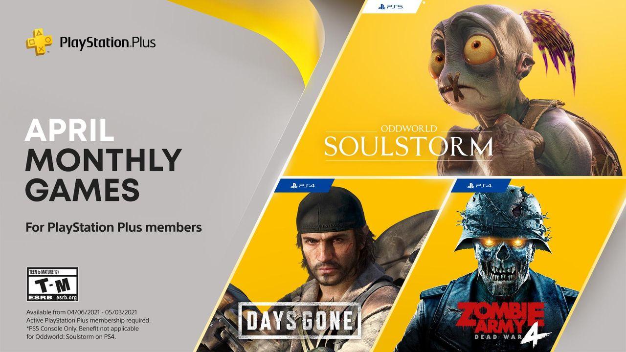 Oddworld och Days Gone till PlayStation Plus