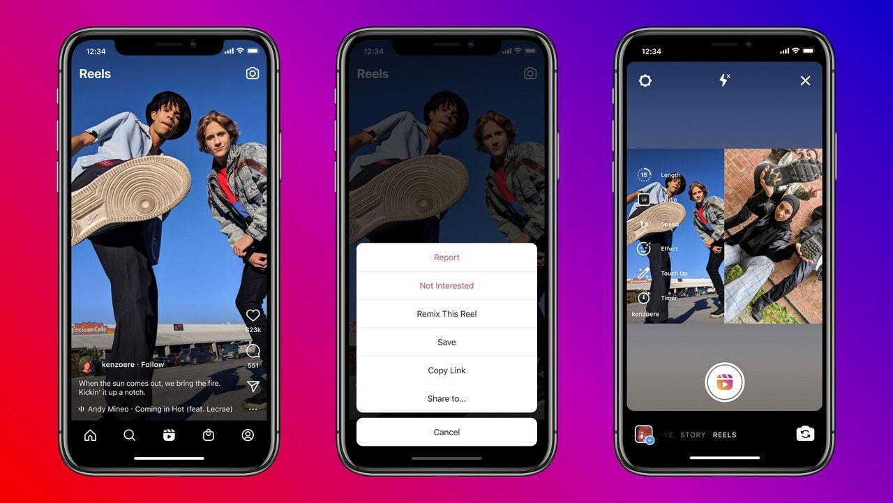 Instagram Reels uppdateras med Tiktok-inspirerad funktion