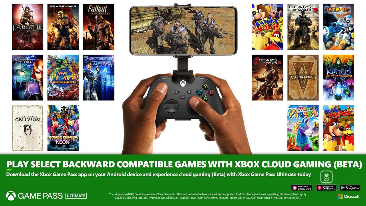 Äldre Xbox-titlar går nu att spela via xCloud