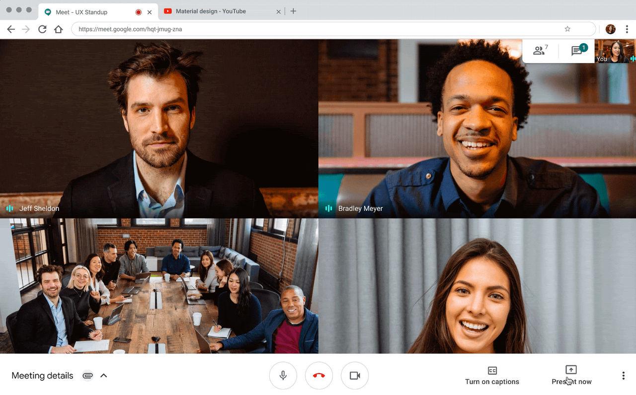 Google Meet fortsätter med oändliga samtalsminuter
