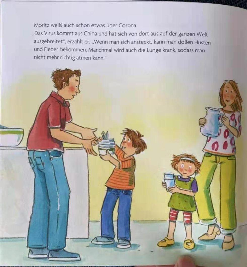 Kina toklackar över tysk barnbok
