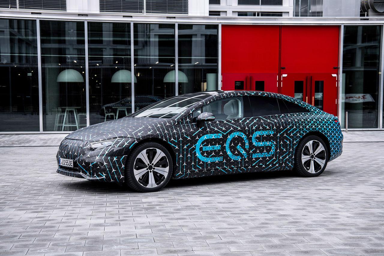 Mercedes EQS ska ha räckvidd på 77 mil