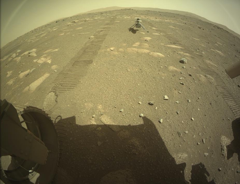 Nu står Ingenuity på egna ben på Mars NASA:s Mars-helikopter har börjat förbereda sig för sin första flight
