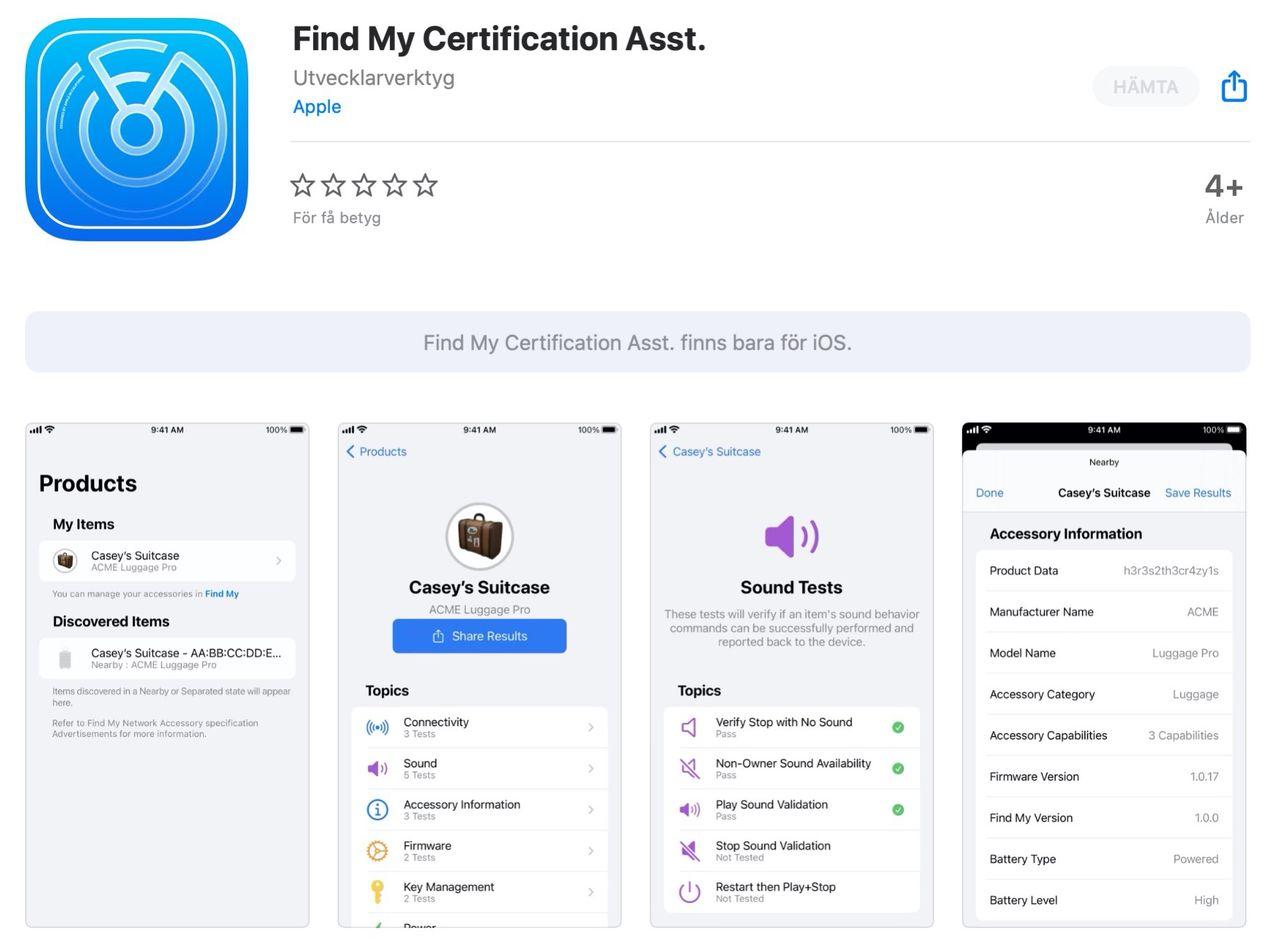 Apple släpper test-app för deras Find My-nätverk