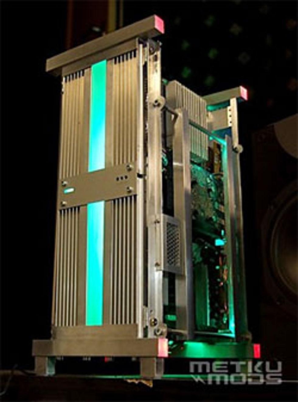 Dator byggd av kylflänsar