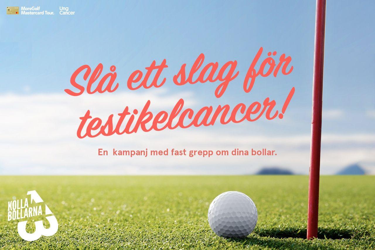 Ung Cancer kampanjar på Sveriges golfbanor