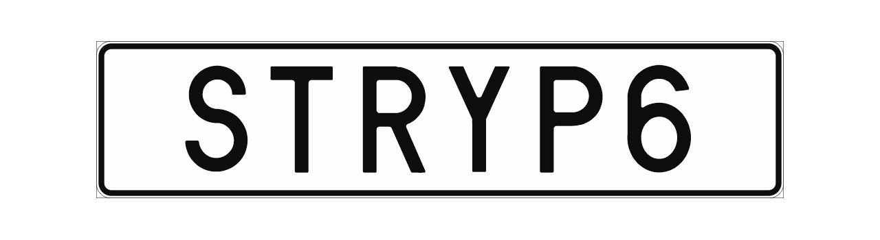 STRYP6 fick nobben som registeringsskylt
