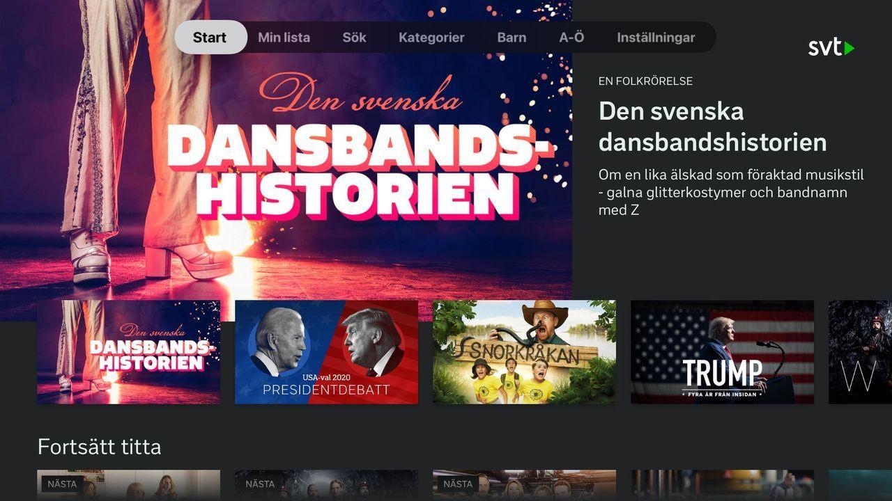 Kanaler på gång till SVT Play på Apple TV