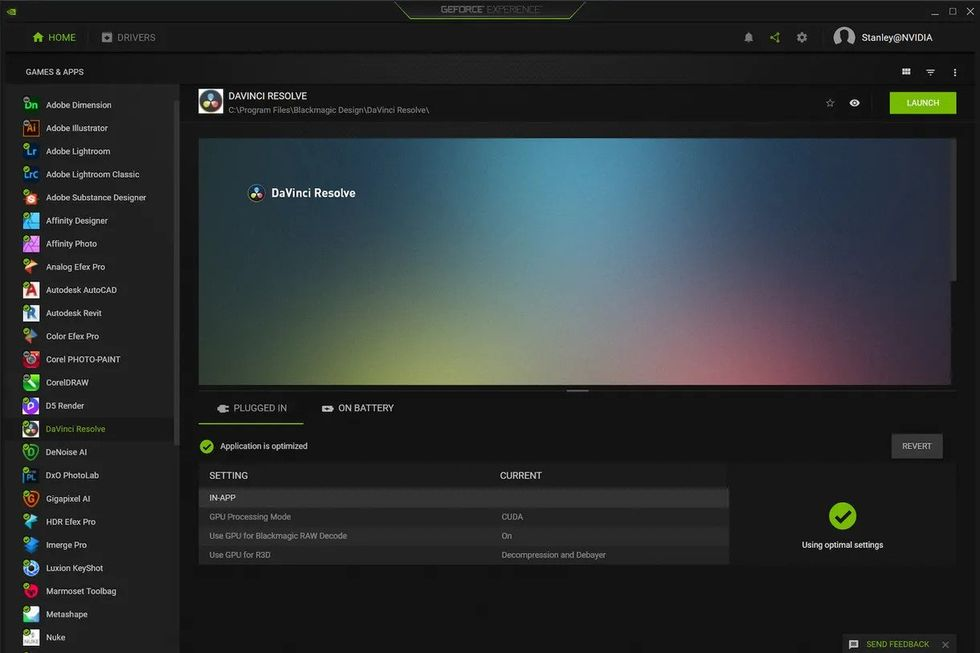 Nvidia GeForce Experience optimerar nu inställningar för program