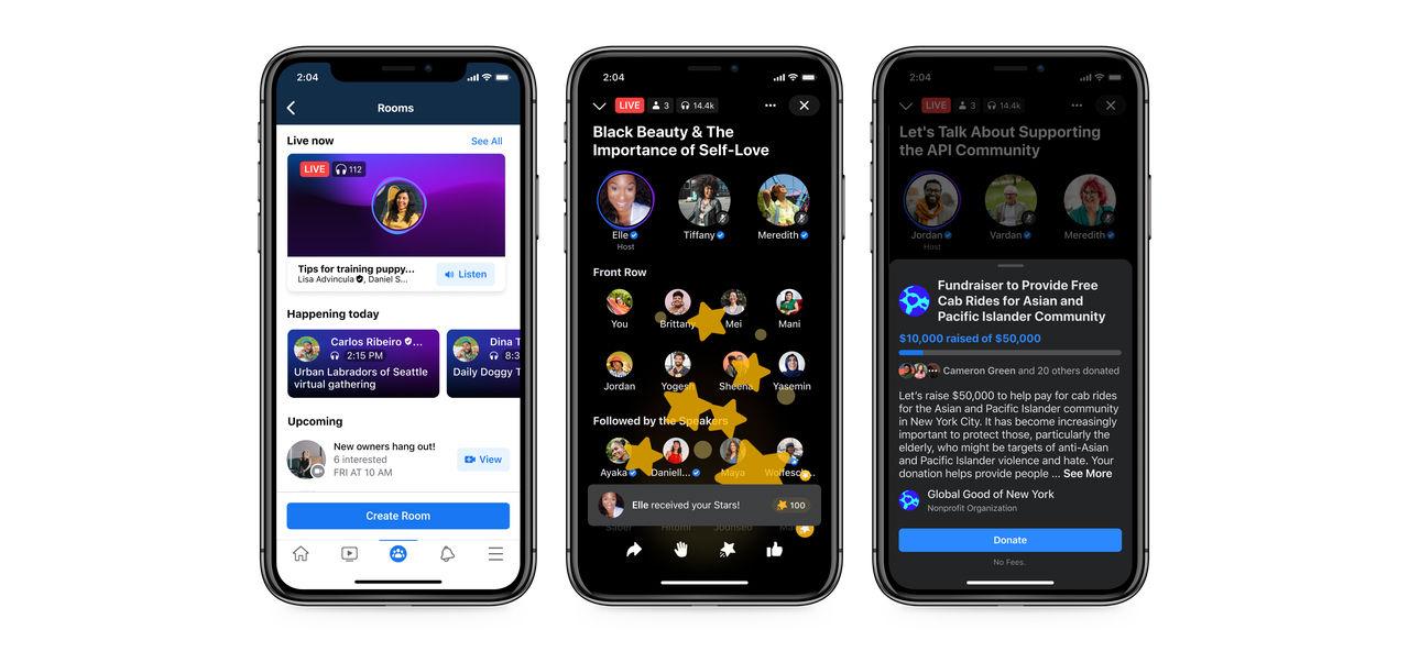 Facebook visar  upp sin Clubhouse-klon Rooms