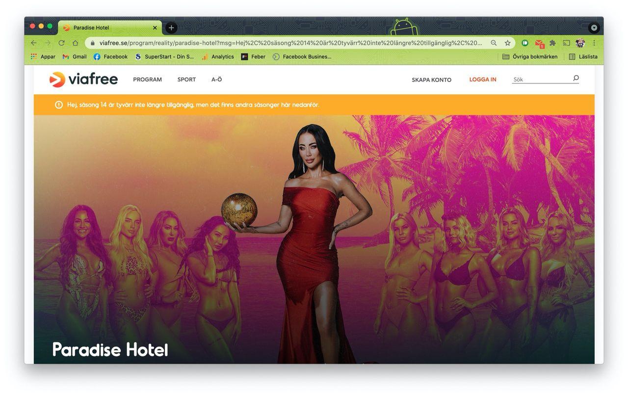 Viaplay plockar bort hela nya säsongen av Paradise Hotel