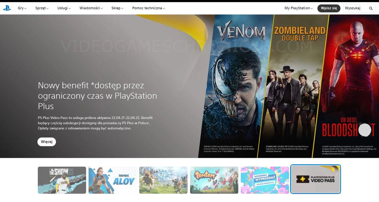PlayStation Plus Video Pass läcker