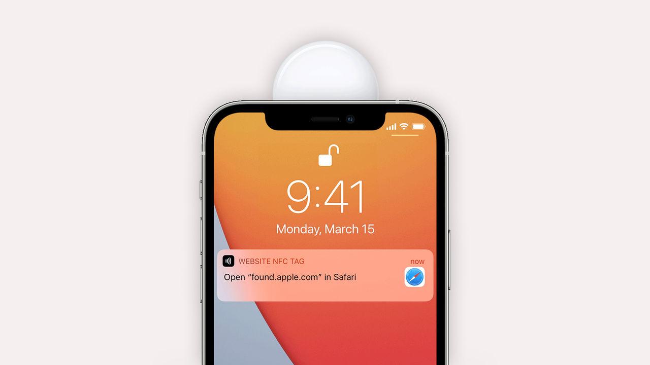 AirTags kan läsas av med alla NFC-kompatibla telefoner