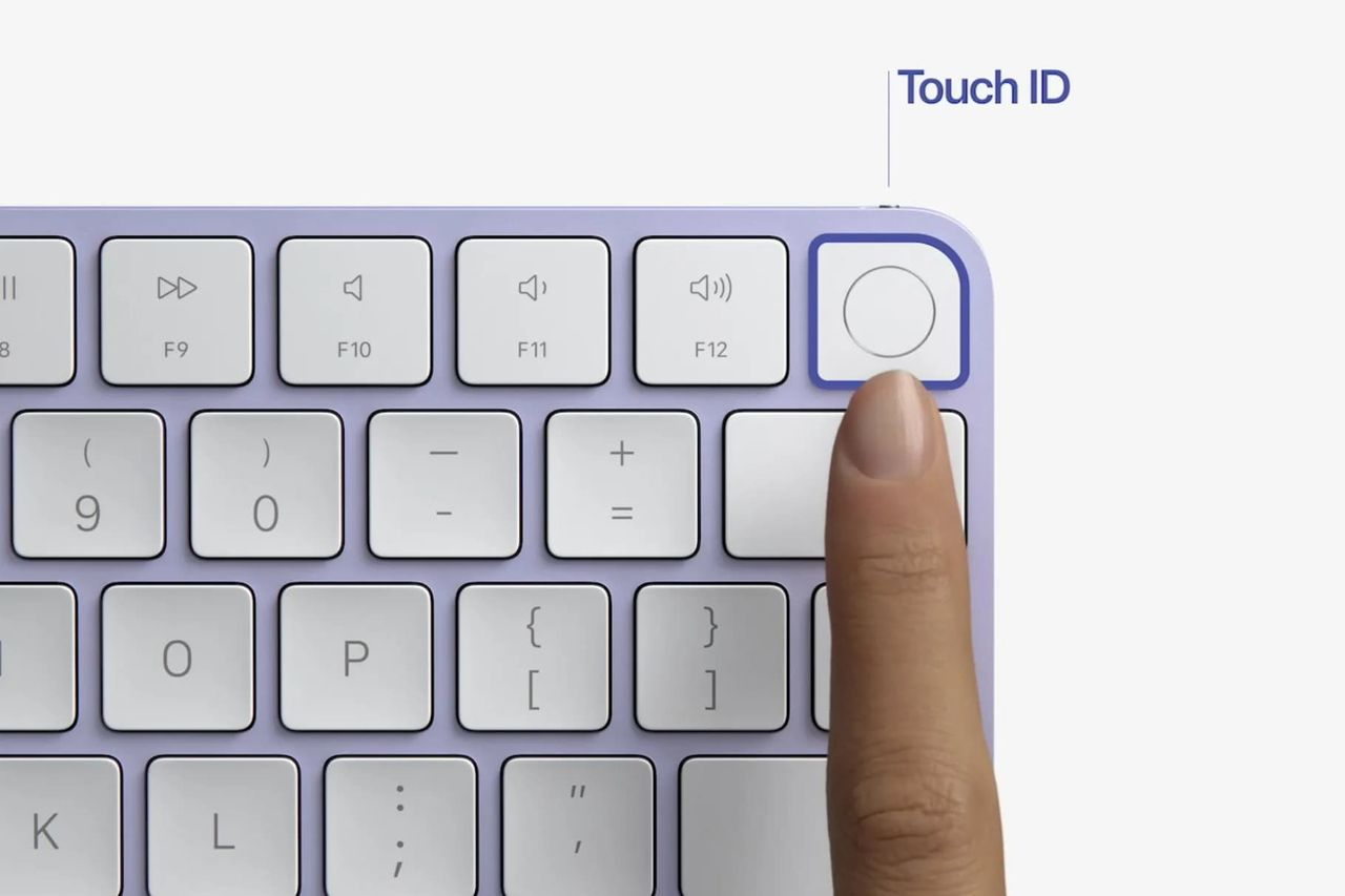 Magic Keyboard med Touch ID funkar med alla M1-maccar