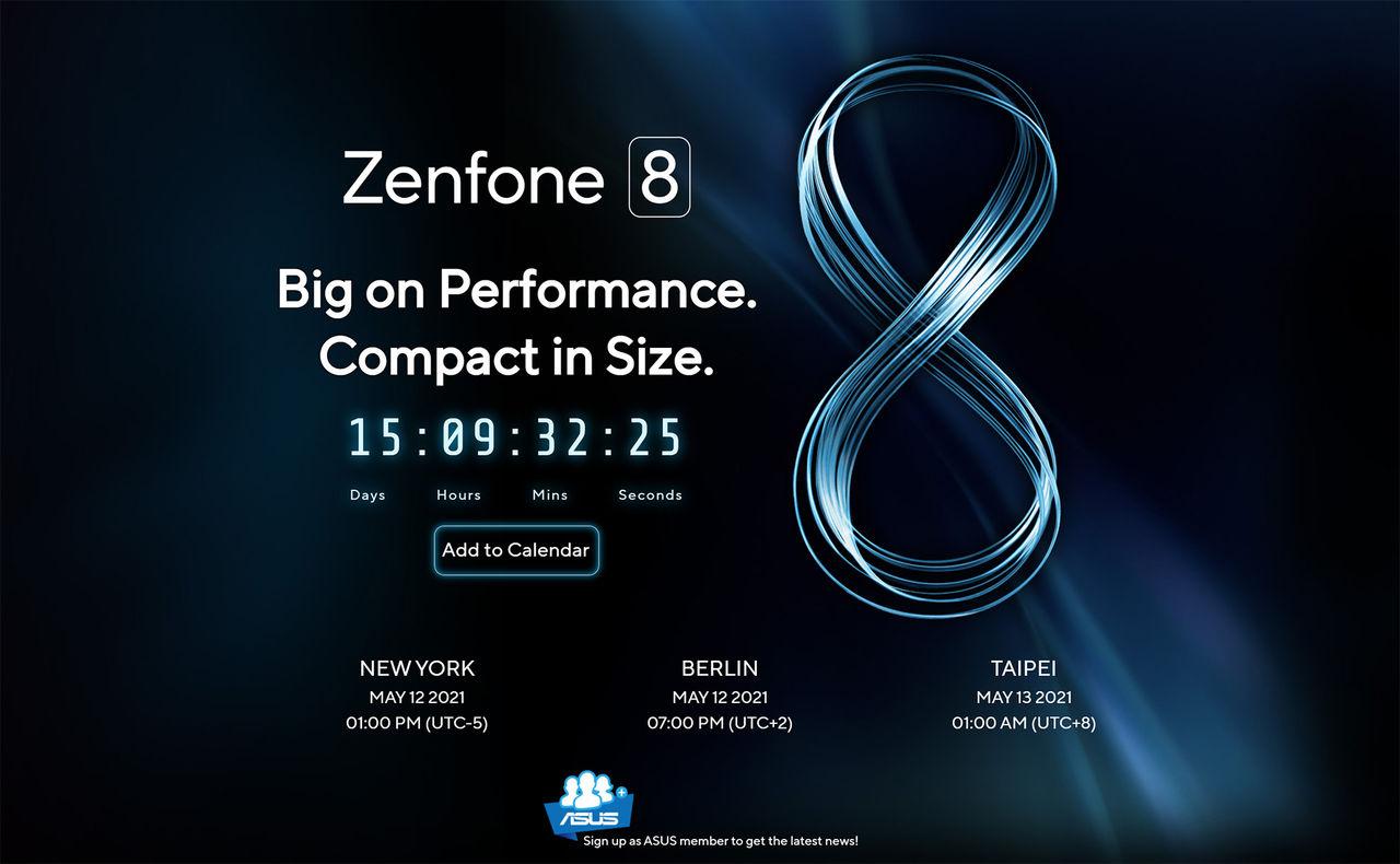 Asus presenterar Zenfone 8 om några veckor