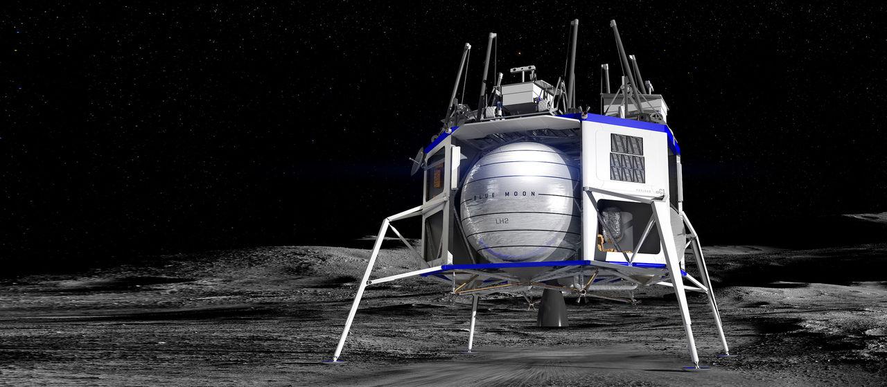 Blue Origin protesterar mot NASA:s val av månlandare