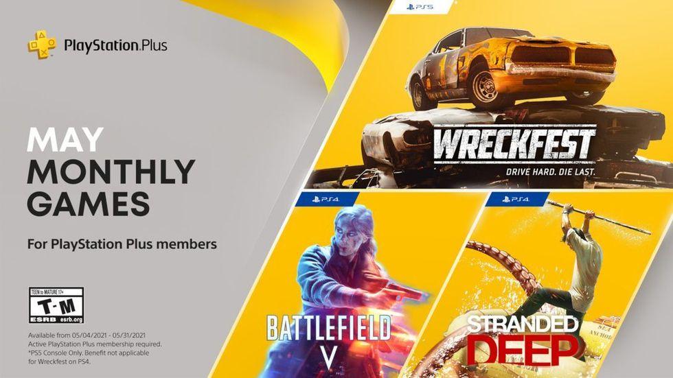 Wreckfest, Battlefield V och Stranded Deep till PS Plus i maj