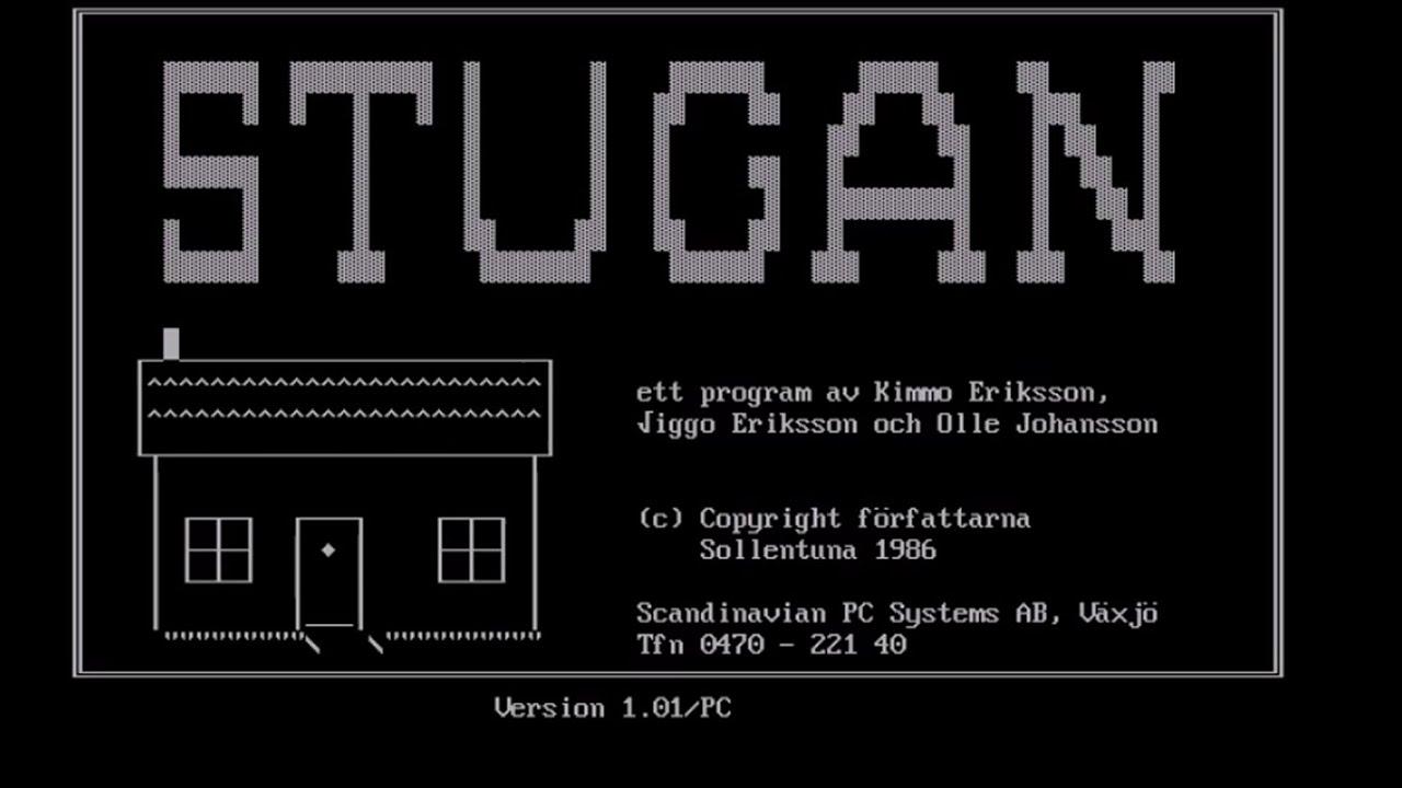 Läs historien om Stugan Det första svenskspråkiga dataspelet