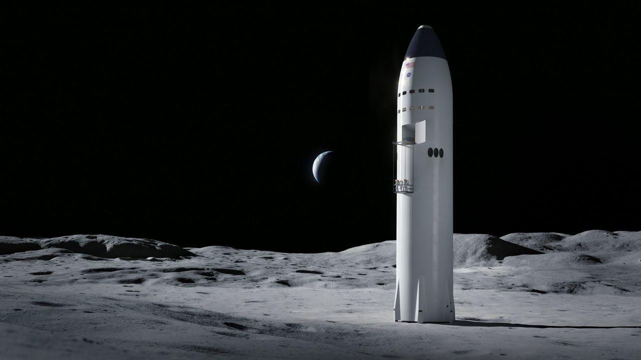 SpaceX månlandar-kontrakt med NASA får vänta