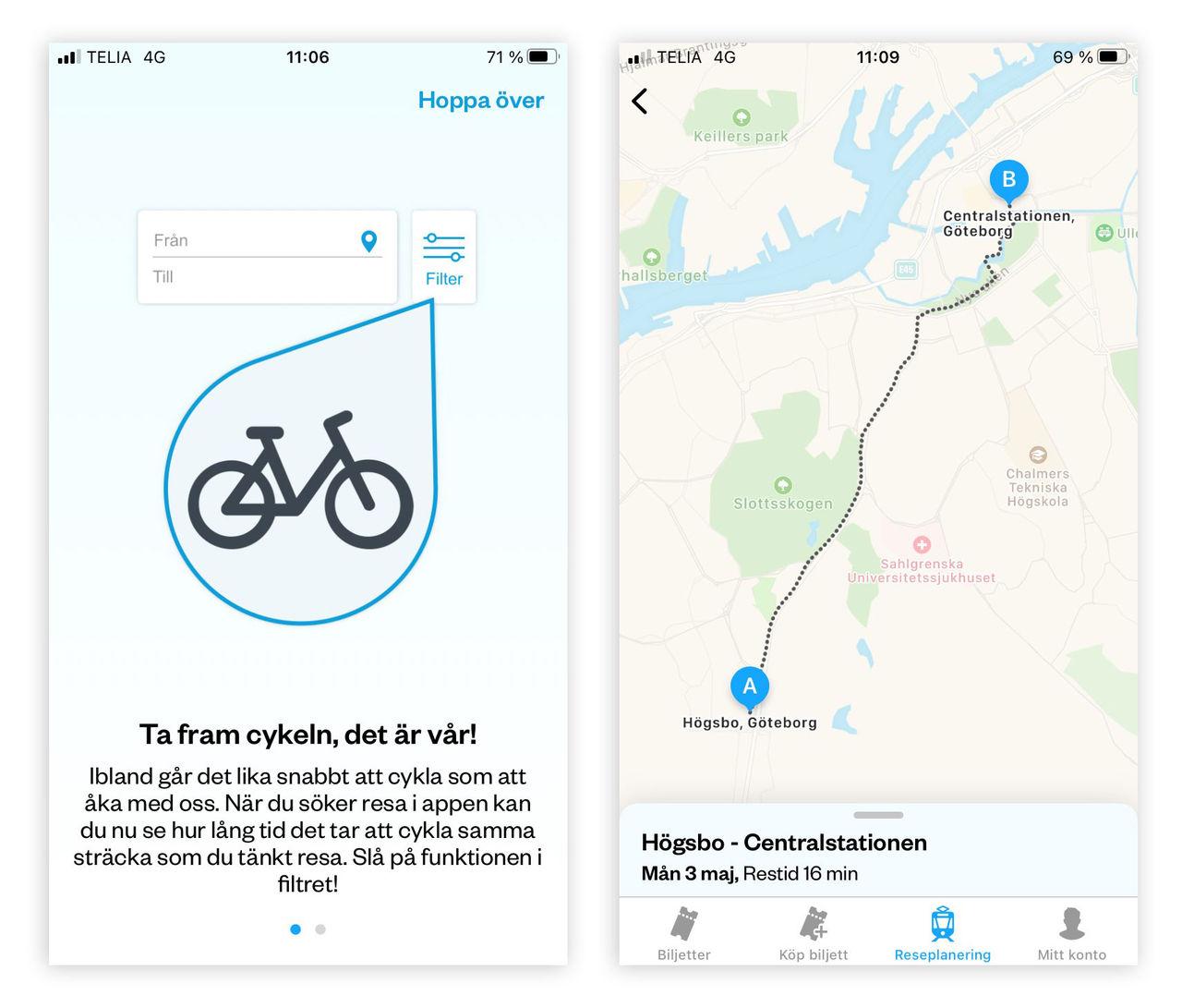 Västtrafik vill få dig att ta cykeln