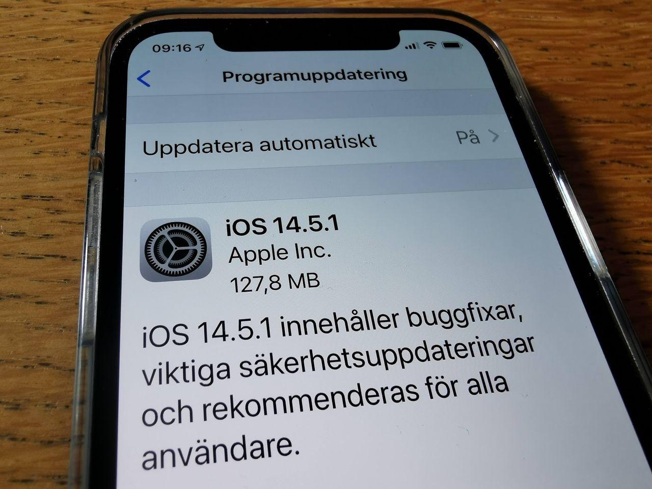 Apple släpper uppdatering till flera operativsystem