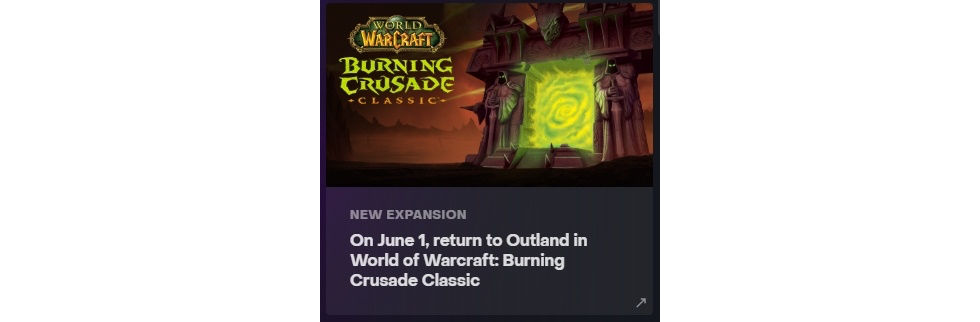 Släppdatum för Burning Crusade Classic verkar vara 1 juni