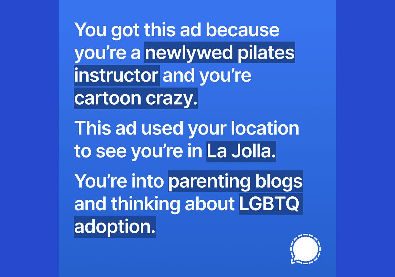 Signal skapade väldigt träffsäkra annonser på Instagram