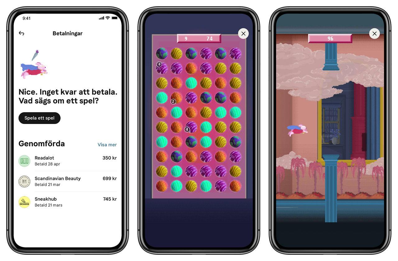 Klarna lanserar spel i sin app
