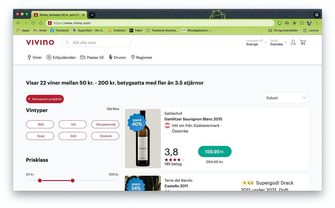 Vivino får fortsätta sälja vin på nätet