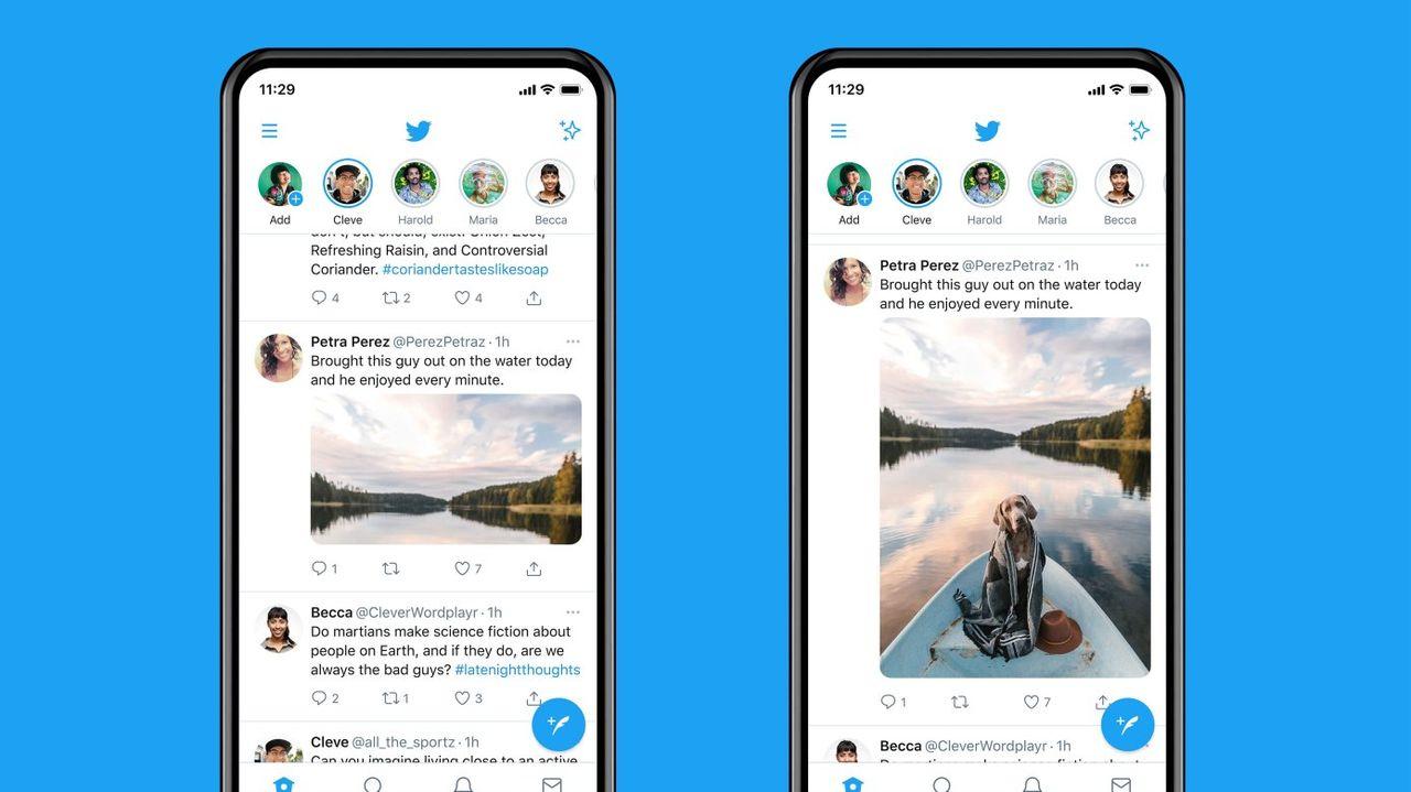 Twitter börjar visa hela bilder i förhandstitten på mobiler