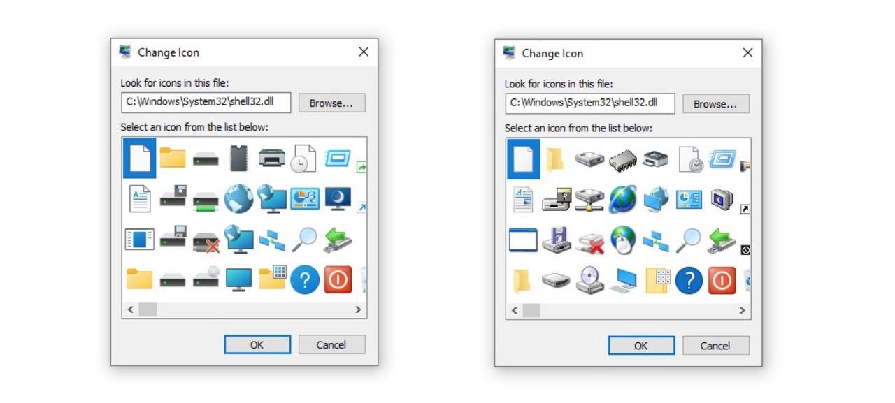 Windows 10 dumpar de sista Windows 95-ikonerna