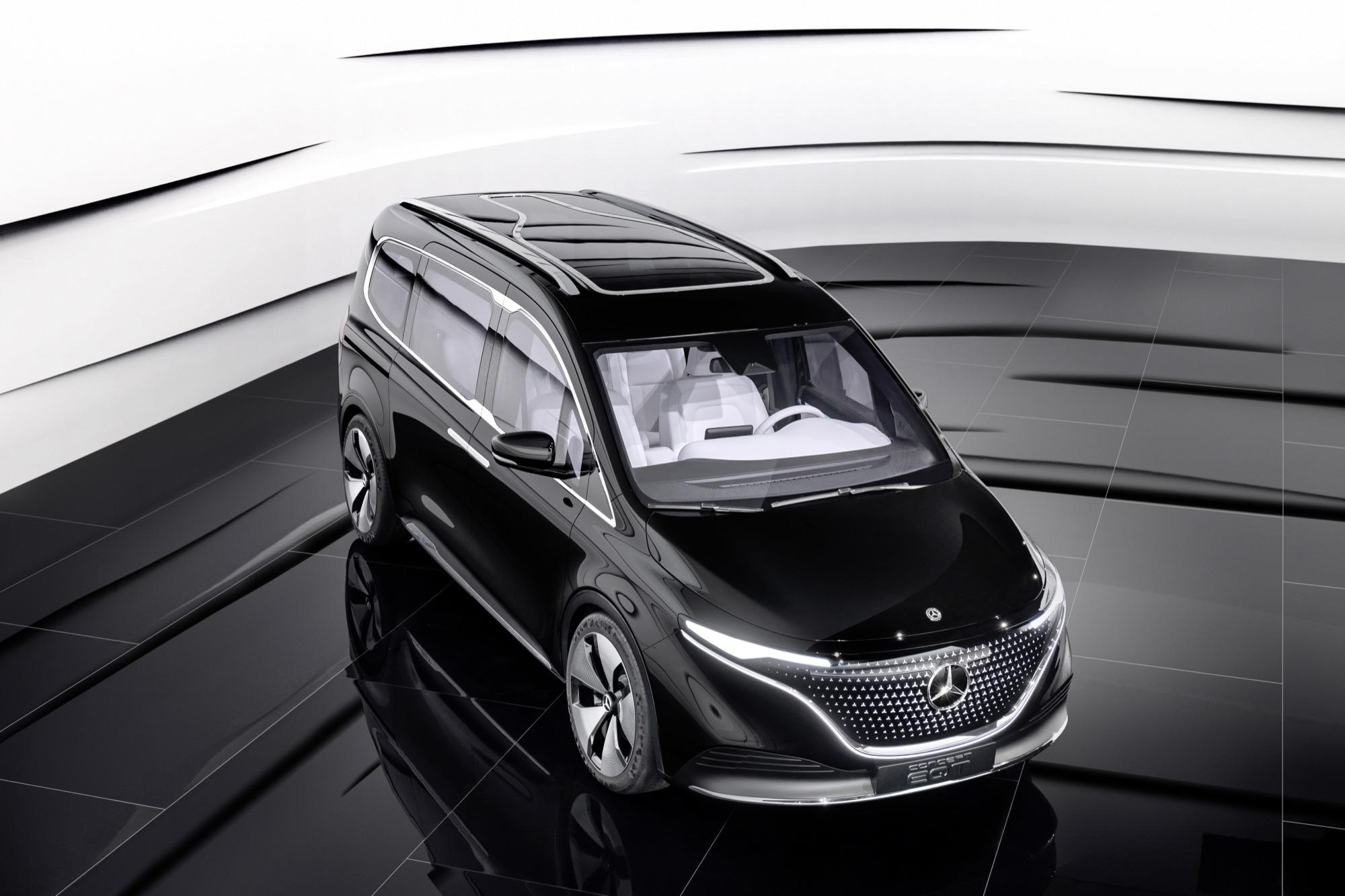 Mercedes visar konceptet EQT Men det är ingen riktig elbil