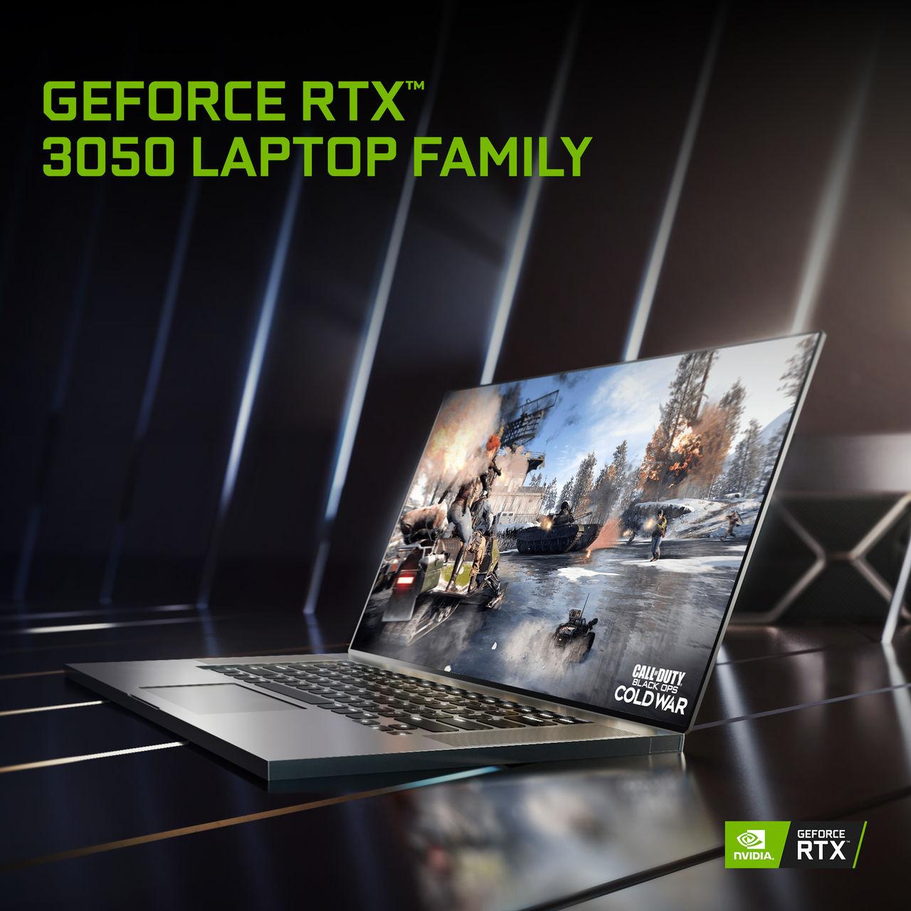 Nvidia presenterar gaminglaptops med RTX 3050 och 3050 Ti