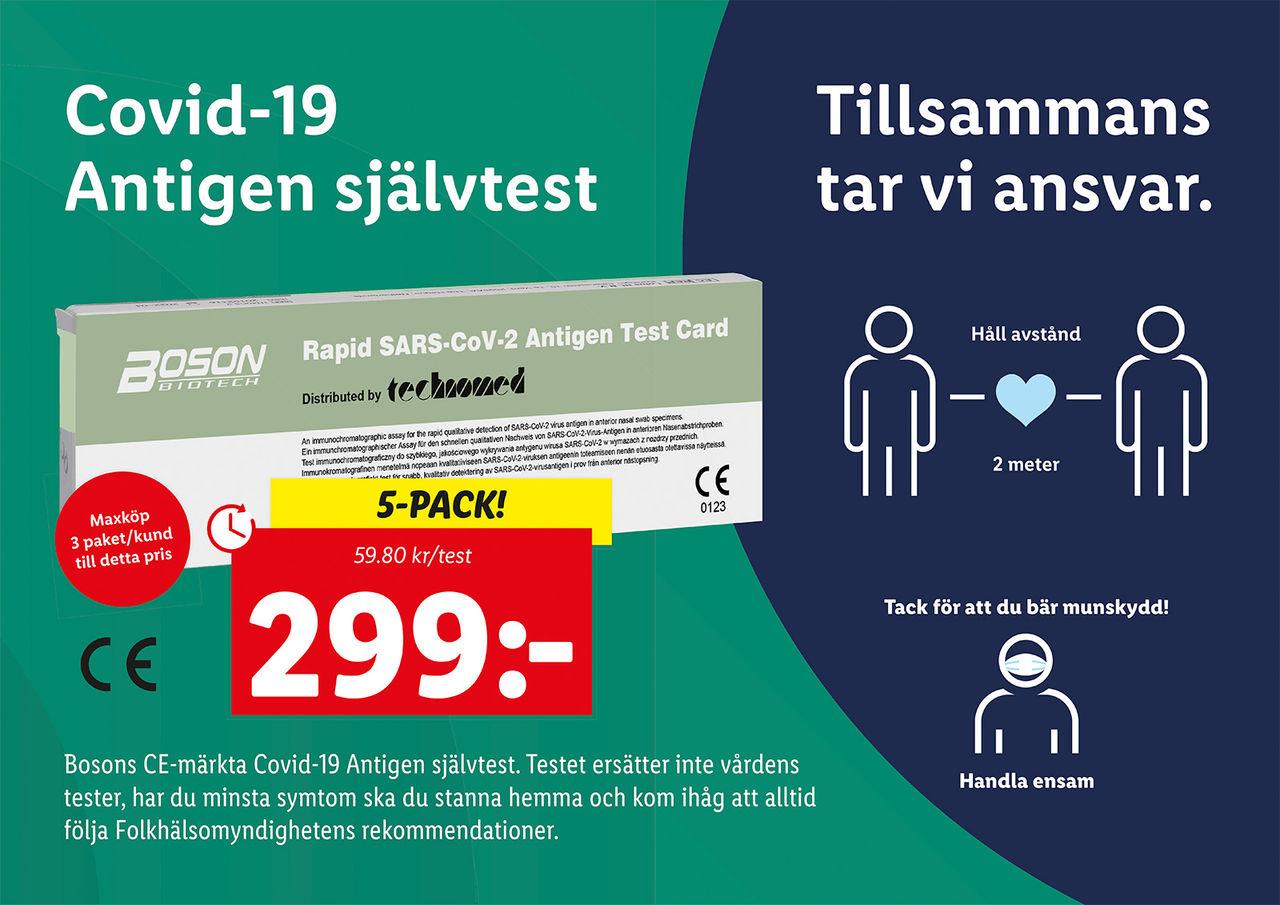 Lidl börjar sälja självtester för COVID-19