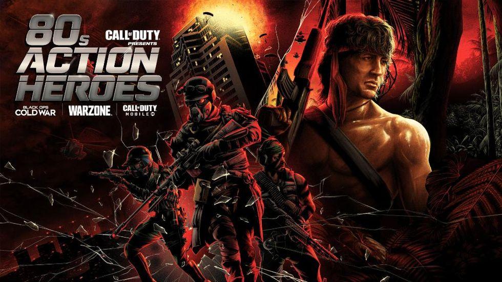 Rambo och John McClane på ingång till Call of Duty