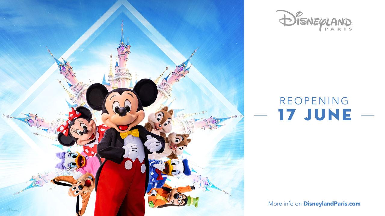 Disneyland Paris öppnar upp igen den 17 juni