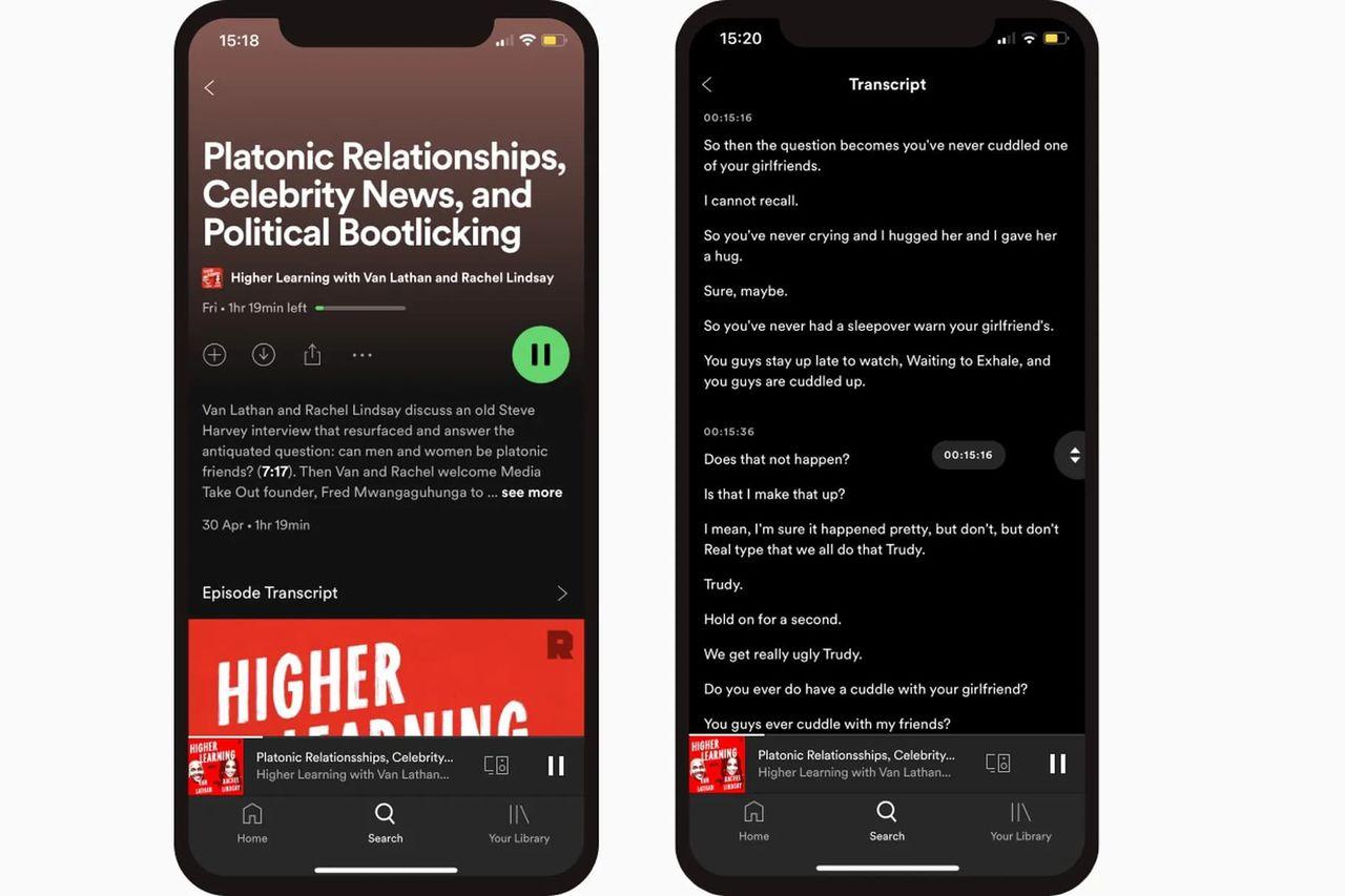Spotify börjar transkribera podcasts