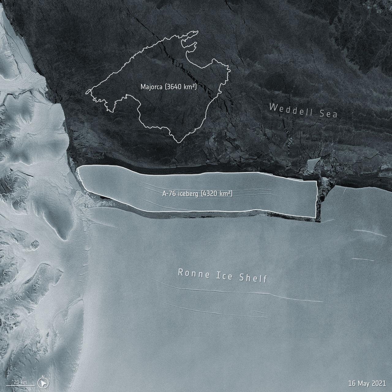 Världens största isberg har brutit sig loss från Antarktis